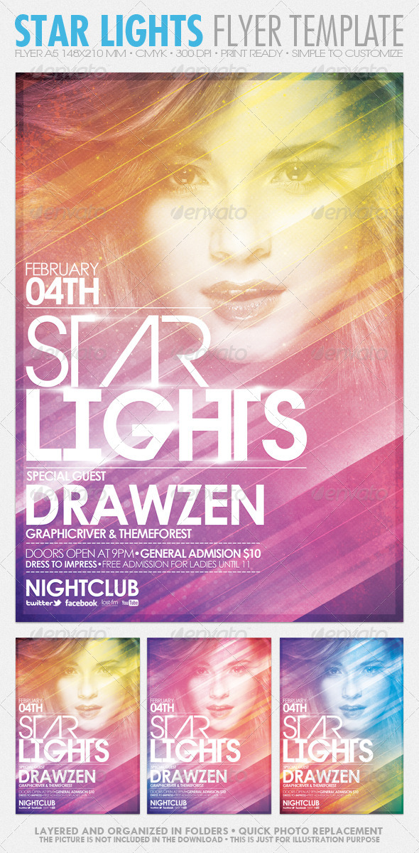 GraphicRiver Star Lights Flyer Template 1381893