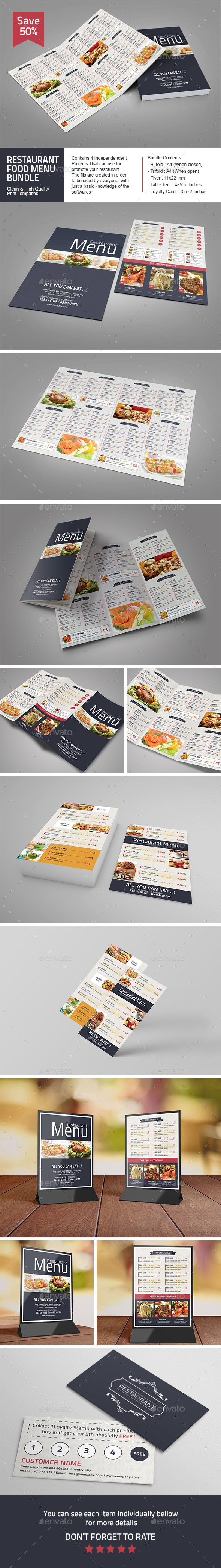 Restaurant Food Menu Bundle
