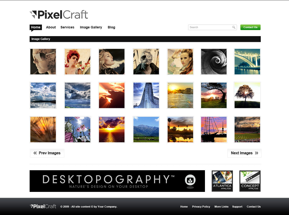 PixelCraft - Professional PSD Template