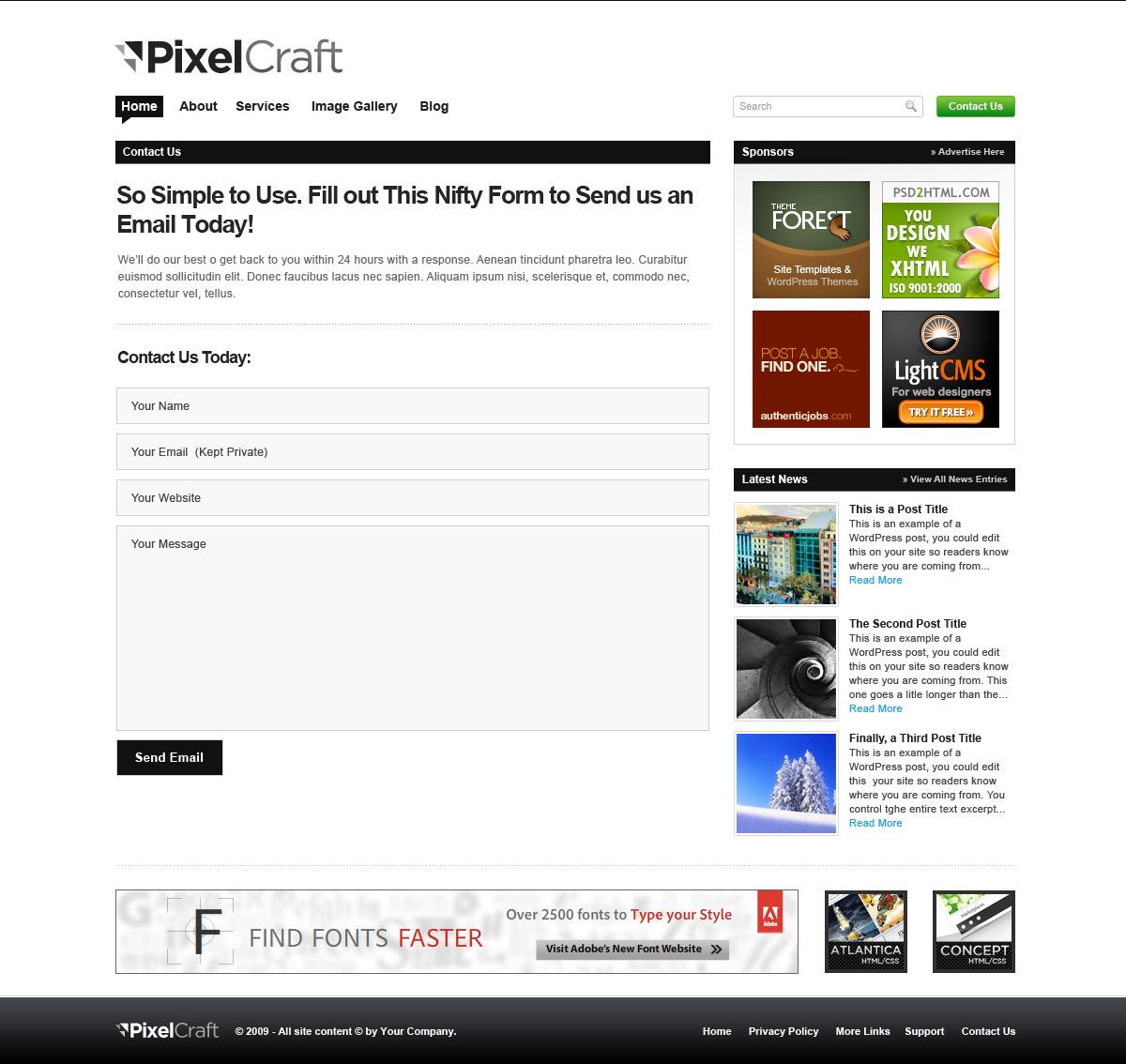 PixelCraft - Professional PSD Template