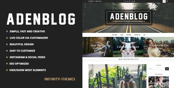 Download Aden - Responsive WordPress Blog Theme nulled download