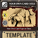 Fantasy Trading or Collectible Card Template