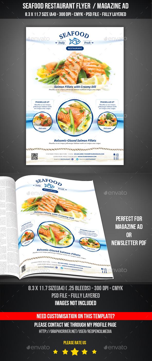 SeaFood Restaurant Flyer / Magazine AD