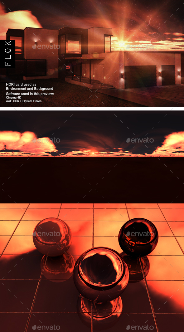 Sunset Desert 50 - 3DOcean Item for Sale