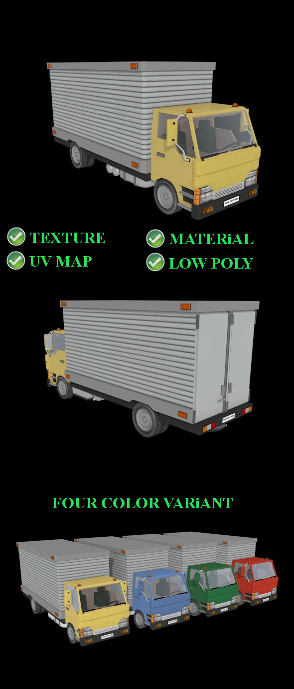 Cargo Truck - 3DOcean Item for Sale