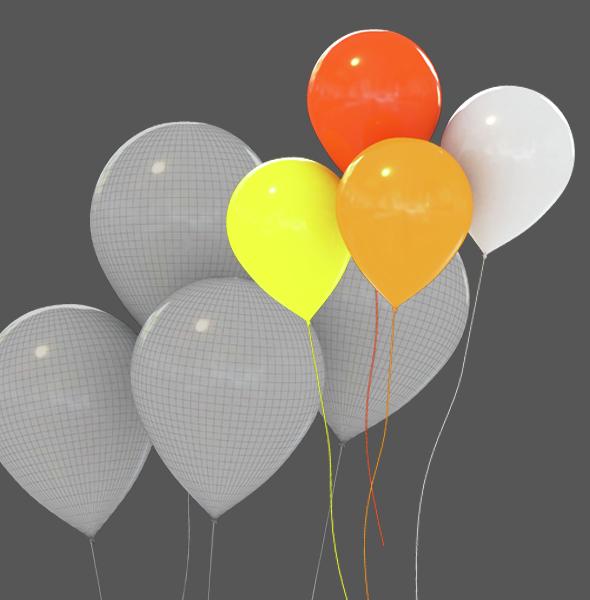 Flying balloon - 3DOcean Item for Sale