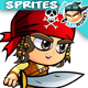 Pirate Boy 2D Game Character Sprites 199