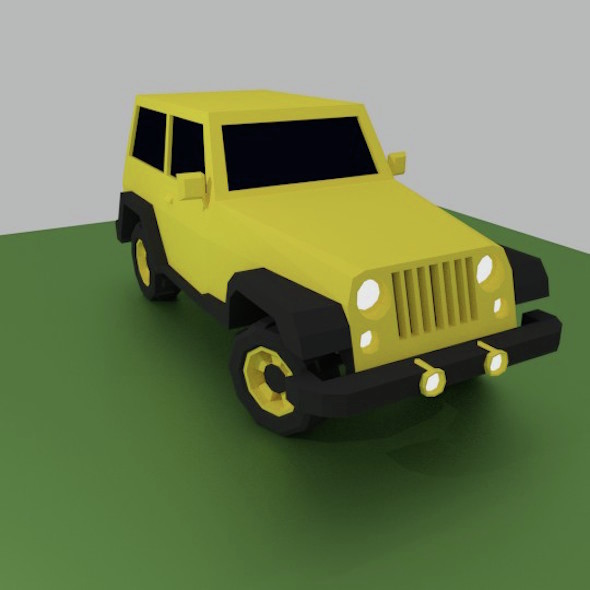 Jeep - Low Poly Off Road Vehicle - 3DOcean Item for Sale