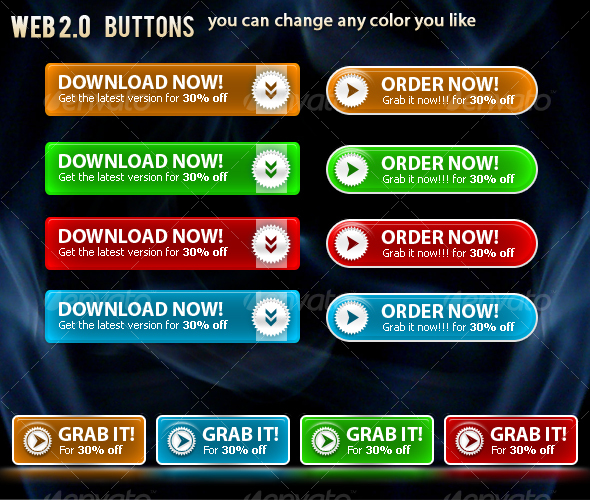 GraphicRiver Web 2.0 Buttons 59342