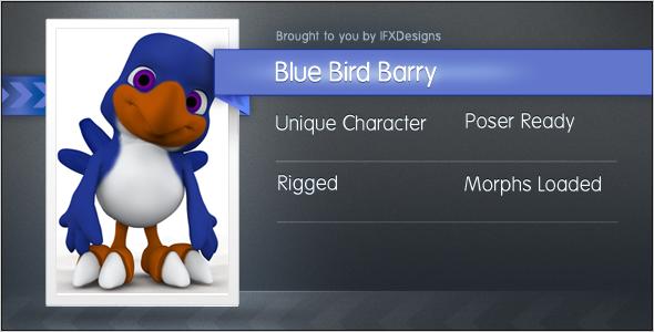 3DOcean Blue Bird Barry 1503477