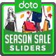 Season Sale Sliders - 4 Colors