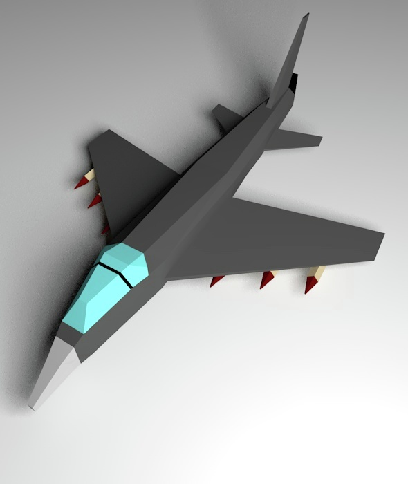 Lowpoly Aircraft - 3DOcean Item for Sale