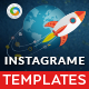 Instagram Templates - 10 Designs - Images Included