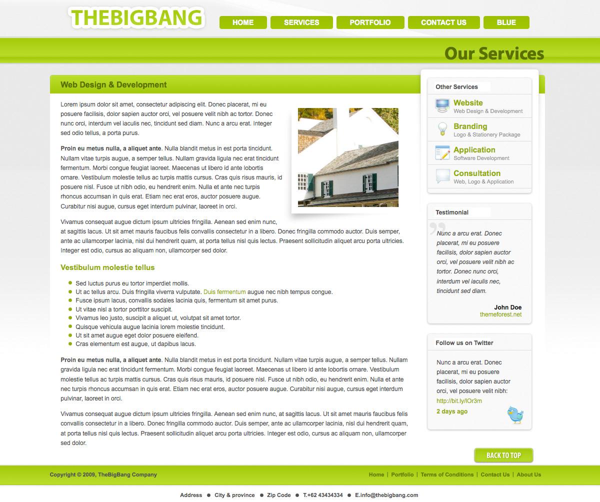 BigBang - Creative Company Template (2 Color) - BigBang