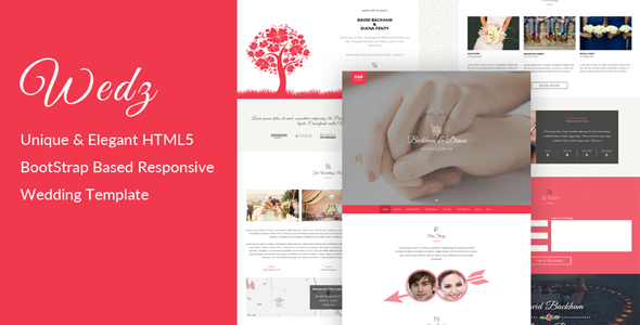 13. Wedz - Responsive HTML5 Wedding Template