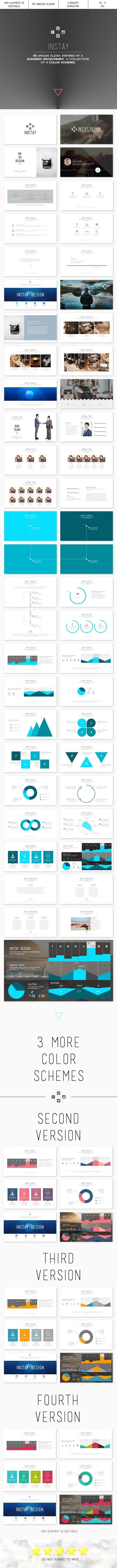 Instay - PowerPoint Template (PowerPoint Templates)