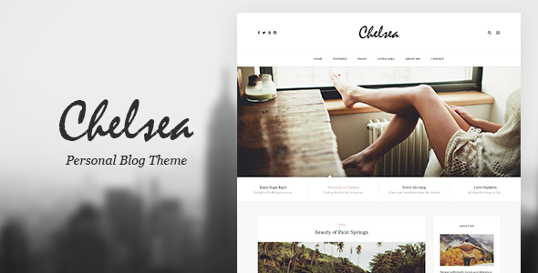 Chelsea - Personal Blog Template for Travelers and Dreamers