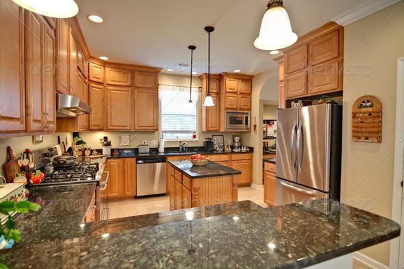 PhotoDune spacious modern kitchen 1505814