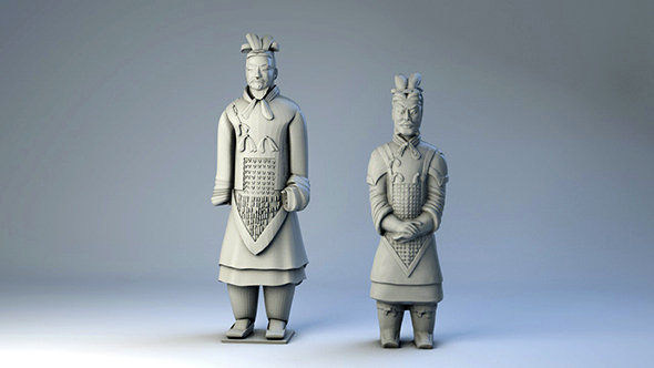 China Terracotta Army - 3DOcean Item for Sale