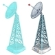 Hologram Antenna Tower Two Isolated Items