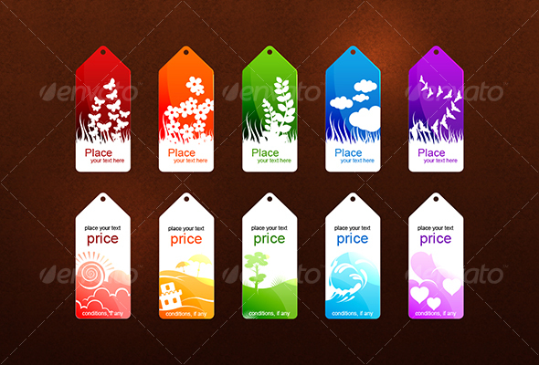 GraphicRiver 10 illustrated sales tags 59399