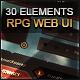 MMO RPG Grunge Web Interface