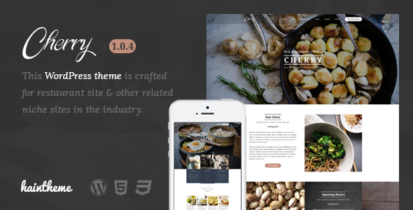 Cherry - Cafe & Restaurant WordPress Theme