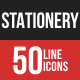 Stationery Filled Line Icons