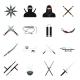 Ninja Flat Icons Set