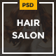 Hair Salon - Elegant PSD Template
