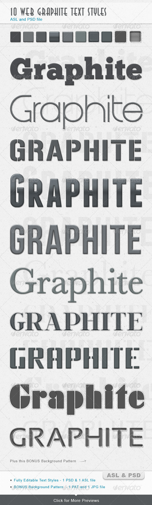 Graphite Text Styles - Photoshop Add-ons