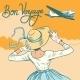 Girl Passenger Plane Bon Voyage