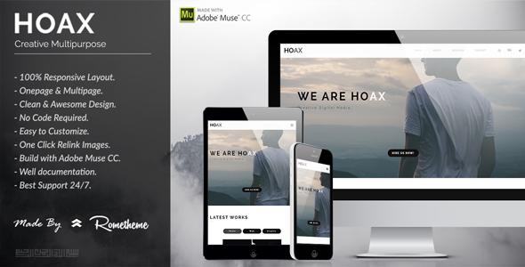 HOAX - Creative Multipurpose Muse Template