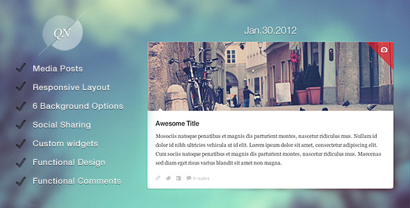 Quicknote - clean & functional blog - Quicknote presentation
