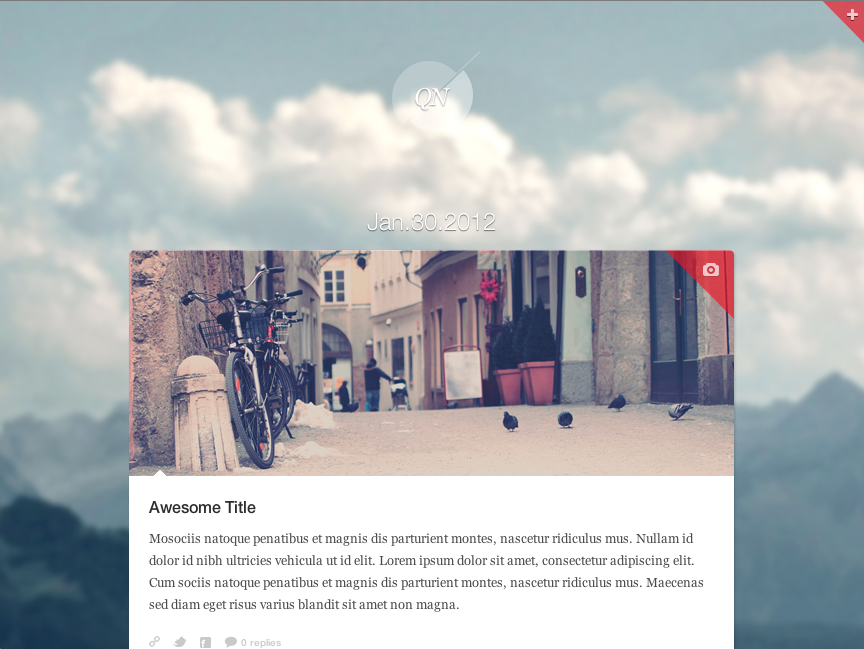 Quicknote - clean & functional blog - Background #4