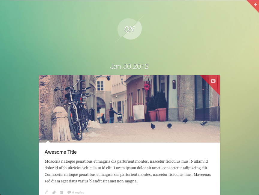 Quicknote - clean & functional blog - Background #5