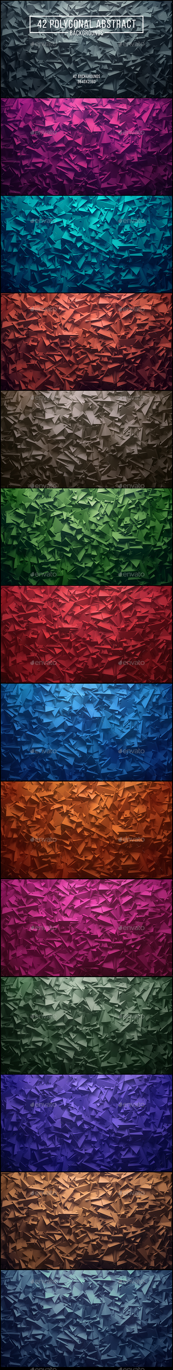 42 Polygonal Abstract Backgrounds
