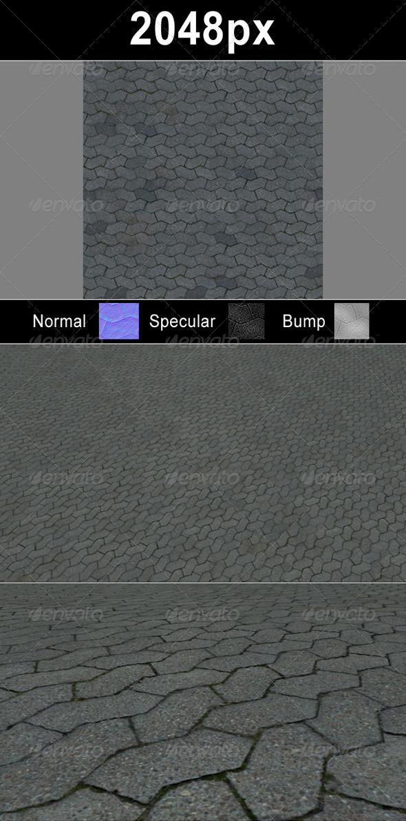 3DOcean Paver Blocks 4 Set 1506324