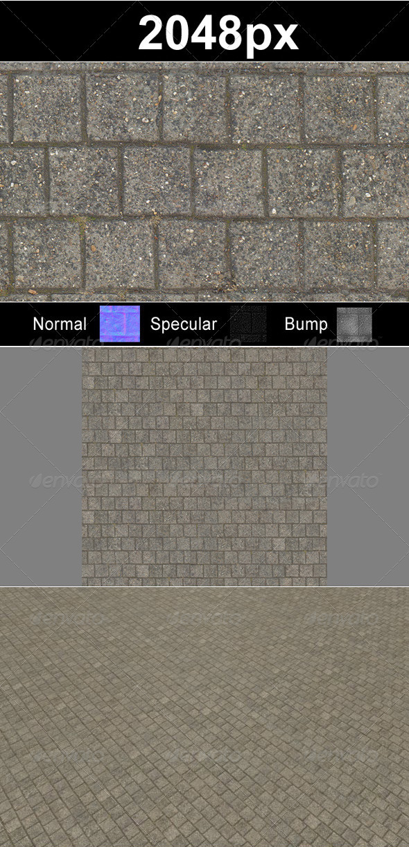 Paver Blocks 5 - 3DOcean Item for Sale
