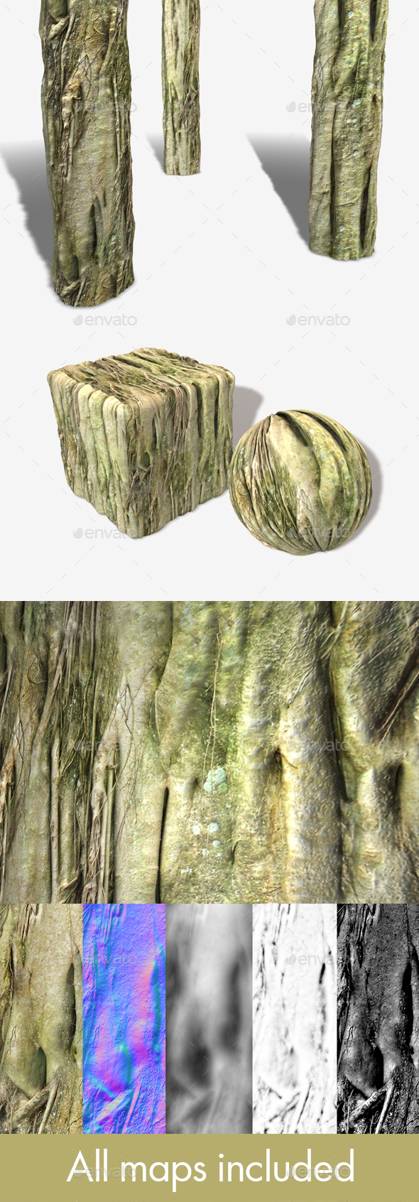 Swamp Tree Roots Seamless Texture - 3DOcean Item for Sale