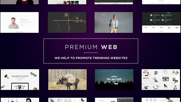 Premium Web l Website Presentati-Videohive中文最全的AE After Effects素材分享平台