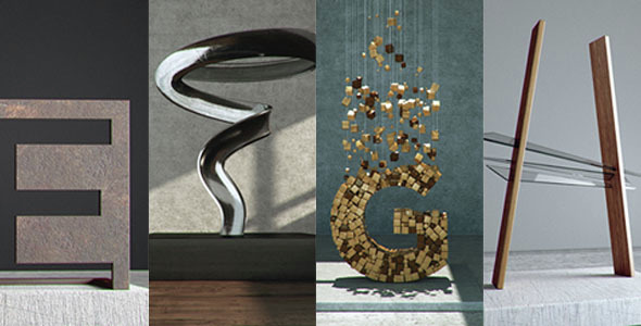 Modern Art Type - 3DOcean Item for Sale