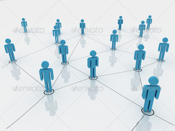 PhotoDune human figures as a symbol of social network 1506883
