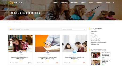 Amazing WordPress Courses Themes