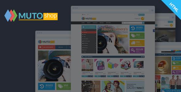 Muto - Mega Shop Bootstrap Template
