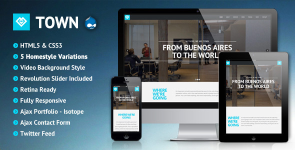 Image of Town - Responsive Multi-Purpose One Page Theme