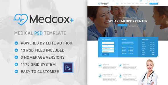 Medcox - Medical PSD Template