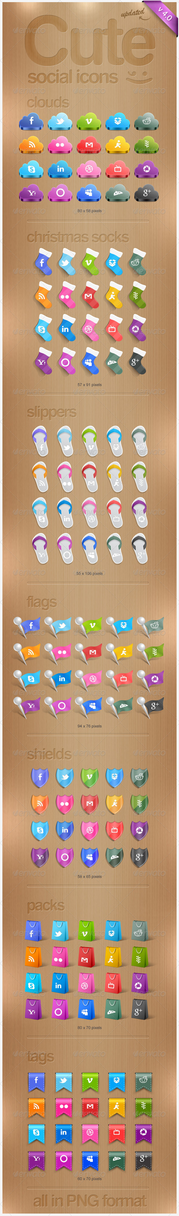 GraphicRiver Cute Social Icons 785575