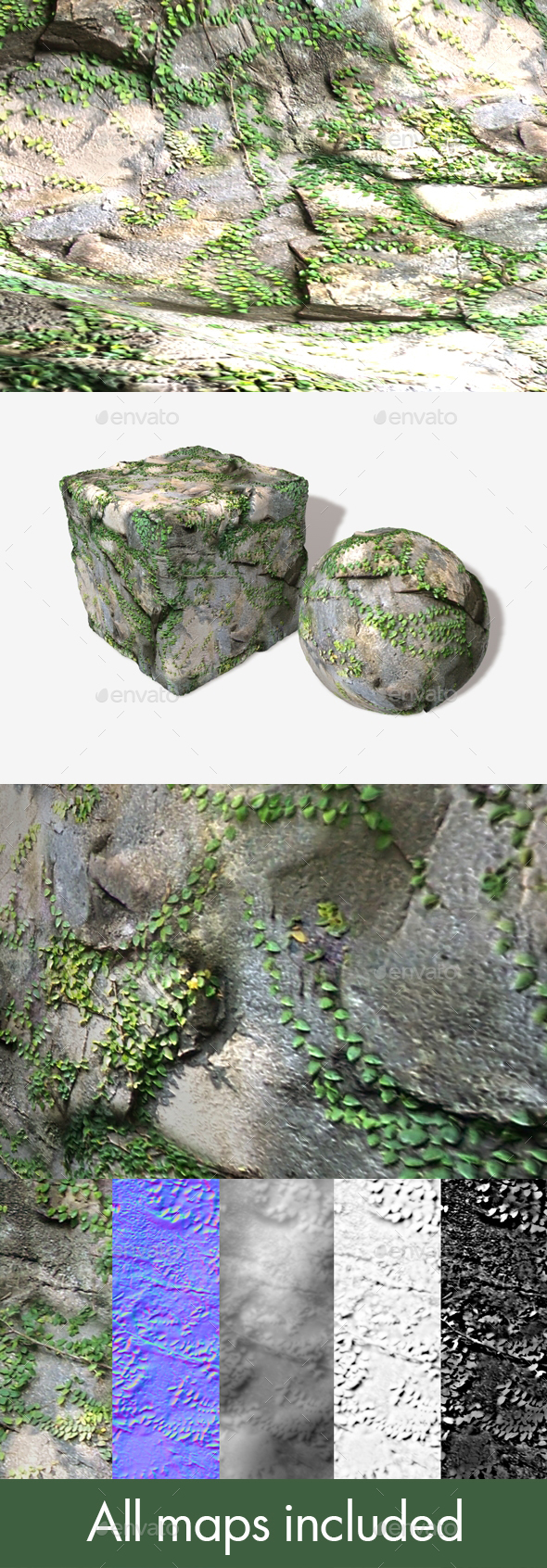 Vine Rocks Seamless Texture - 3DOcean Item for Sale