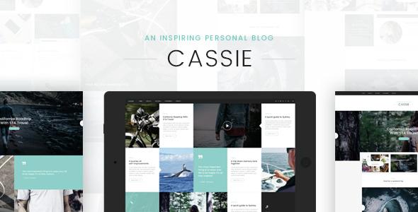 Cassie - An Inspiring Personal Blog PSD Template